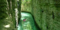mayan ruins, underground river