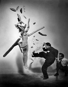 """Popcorn Nude"", #SalvadorDalì by #PhilippeHalsman"