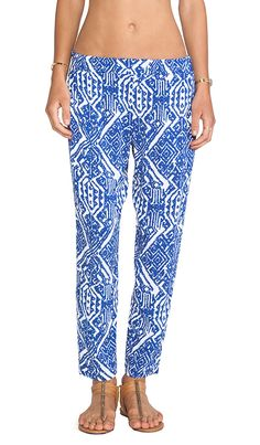 Blue & White Ella Moss Pants