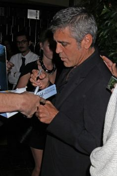George Clooney and Elisabetta Canalis dinner date