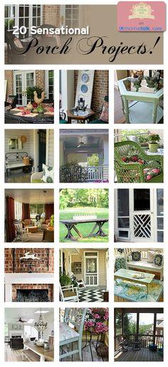 diy home decor, front porch, screen porch, southern homes, porch idea, screen doors, modern homes, home interior design, screened porches