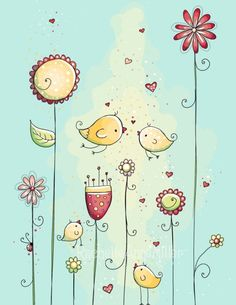 Love Birds by Rachelle Anne Miller Creative Studios