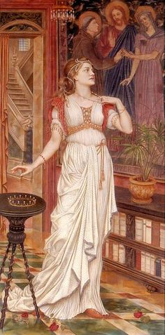 The Crown of Glory (1896) by Evelyn de Morgan