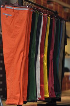 Colored chinos.
