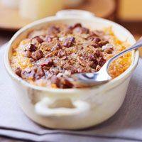 "Try this ""Sweet Potato Casserole"" (YUM)"