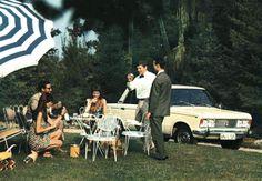 pretti parti, vintag fiat, gather, inspir, fiat 125, picnic