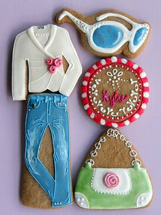 Look What I Got!! fashion decorated cookies