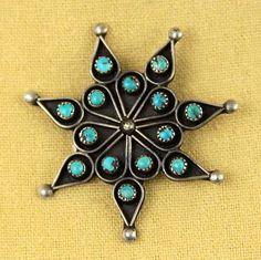 Zuni Turquoise Petit Point Snowflake