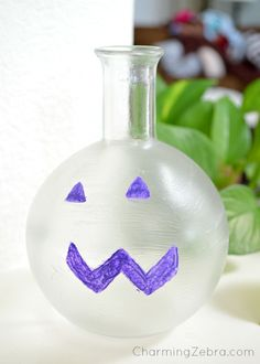 glow vase - DIY made with Handmade Charlotte's stencils - click thru for the full craft tutorial! @Handmade Charlotte #folkartmulti