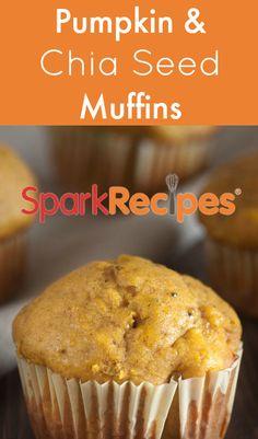 Pumpkin Chia Seed Muffins | SparkPeople