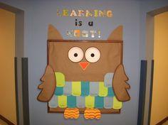 I love owls...back to school hallway board