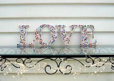LOVE  mosaic wall art by Sigmosaics on Etsy, $110.00