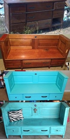 Trash to Treasure Furniture Makeovers   From trash to treasure! Old dresser into a bench   Furniture & Decor