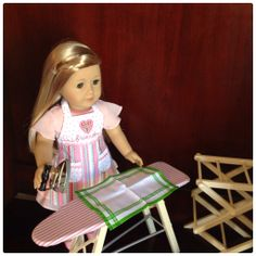 American Girl Isabelle with Kit's Washday Set