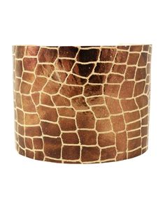 Recycled leather cuff