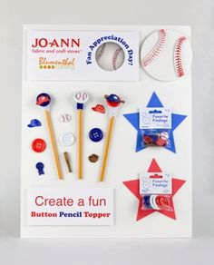 ButtonArtMuseum.com - Here is our MTK that the kids of all ages created at the event - Button Pencil Toppers!