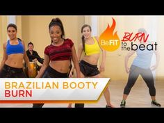 Brazilian Booty Burn Workout: Burn to the Beat with Keaira LaShae is a fiery, 10 minute cardio butt workout that uses Brazilian-inspired dance moves to burn ...