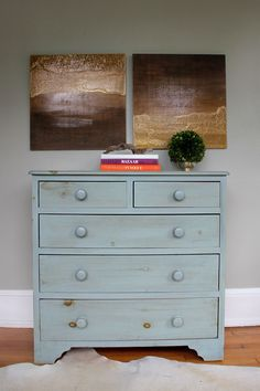 DIY Wall Art: Ombre Diptych. Plywood and wood stain are the main ingredients in this DIY project.