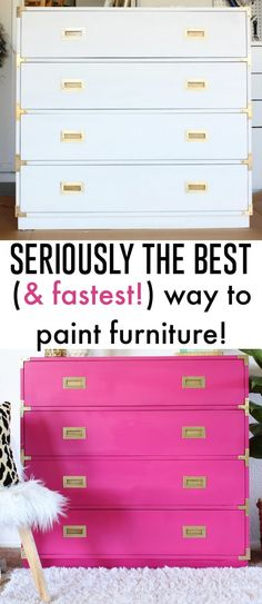 How to paint a dresser (painted campaign dresser)