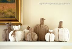 How to Make Sweater Pumpkins- A Tutorial from Fact Woman