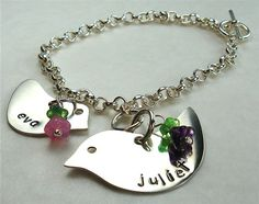 Mothers Christmas Baby Bracelet Personalized