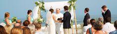 Beach Wedding Ceremony at Palmetto Dunes, Hilton Head Island