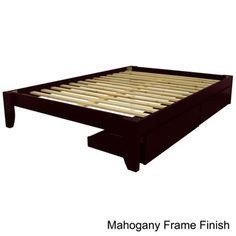 Scandinavia Queen-size Solid Wood Storage Drawer Platform Bed | Overstock.com