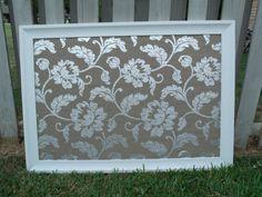 Framed Fabric Covered Cork Board
