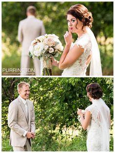First look.  Aren't they adorable?!  © Purrington Photography Bemidji Wedding Photographer