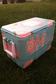 Phi Mu RoadTrip ready cooler! I'm really excited how this turned out!