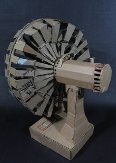 Cardboard sculptures of everyday objects - fan
