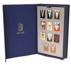 """Doctor Who"" Doctor Who: 50th Anniversary Pin Badge Set (BBC Shop Exclusive) at BBC Shop"
