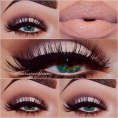 Great way to utilize matte shadows beauti eyeshadow, eye makeup, soft colors, lipstick colors with eye, lip colors, makeup looks, eyeshadow ideas, eye liner, mac products