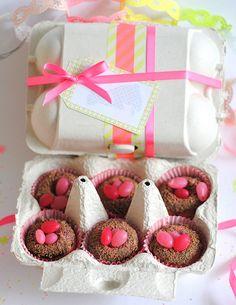 Tiny doughnut nests for Easter
