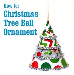 Crafty Idea: Christmas Tree Bell Ornament #easy #fun #kids #DIY #tutorial @BenFranklinCrafts Monroe
