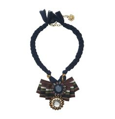 LOFT Collection Short Ribbon and Gem Necklace | Loft