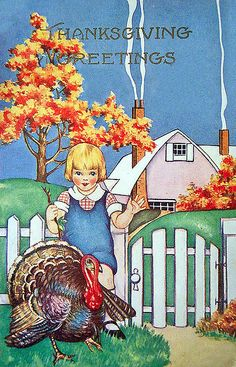 Vintage Thanksgiving Postcard #ThanksGiving #Home #Decor ༺༺  ❤ ℭƘ ༻༻
