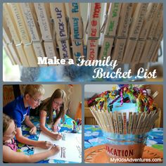 Want to have ongoing adventures with your kids? Create a family bucket list of things you'd like to do and a bucket full of memories to reme...