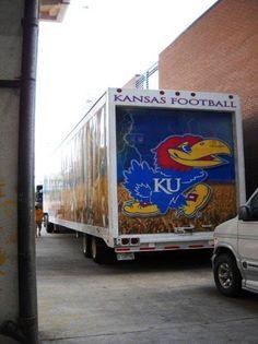 University of Kansas Jayhawks - equipment transporter for away football games