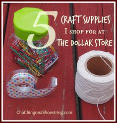 The best craft supplies to buy at the Dollar Store!