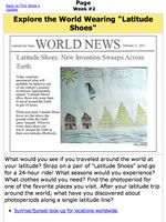 Worksheet | Exploring the World Wearing Latitude Shoes