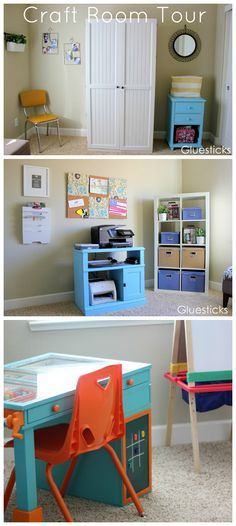 Craft Room Tour - Brandy at Gluesticks Blog lots of great ideas!