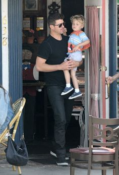 Robin Thicke with his son Julian Thicke.