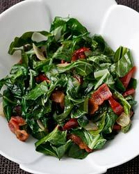 Cider-Braised Collards with Ham Recipe from Food & Wine
