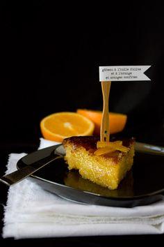 Gâteau à l'orange et à l'huile d'olive