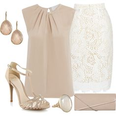 """""""Lace skirt"""" by dgia on Polyvore"""