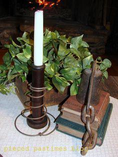 Bed Spring Candle Holder