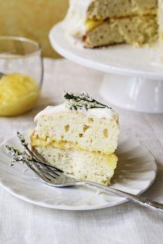 lemon cake w/ lemon-mascarpone & cream cheese frosting