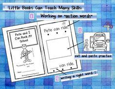 """Pete the Cat """"Action Words"""" booklet"""