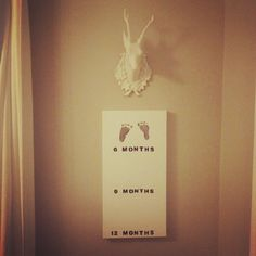 DIY baby footprints canvas. Wish I wld have done this with E